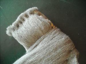 Camicino - lana di ferro, particolare