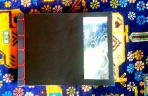 cover book, legtura giapponese con inserto pittorico